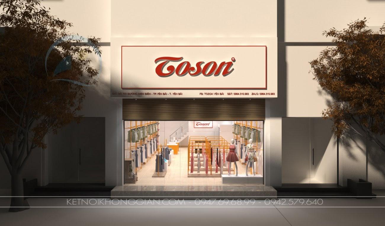 thiết kế shop thời trang nhỏ