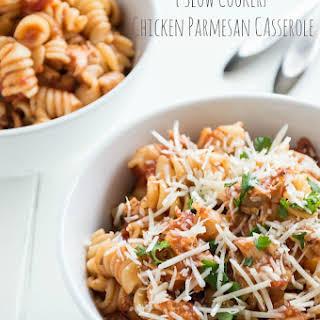 {Slow Cooker} Chicken Parmesan Casserole.