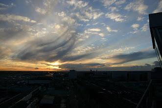 Photo: Valstrepen waarbij de oorspronkelijke altocumulus al opgelost is. 15-11-2010 Jetstream over ZO-Nederland