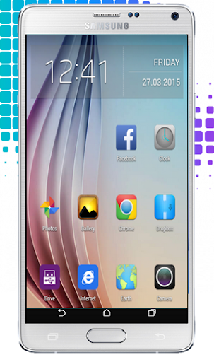 S6 Launcher Theme: Galaxy