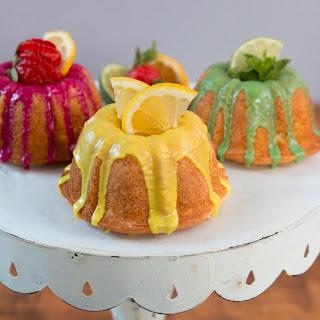 Mini Lemonade Bundt Cakes.