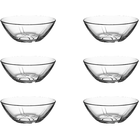Kosta Boda Bruk Clear Bowl Small 6-pack