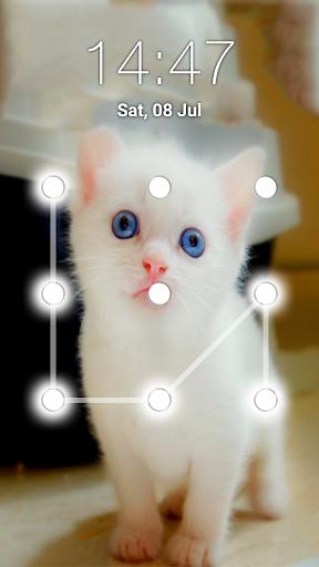 Kitty Cat Pattern Lock Screen 5.5 screenshots 1