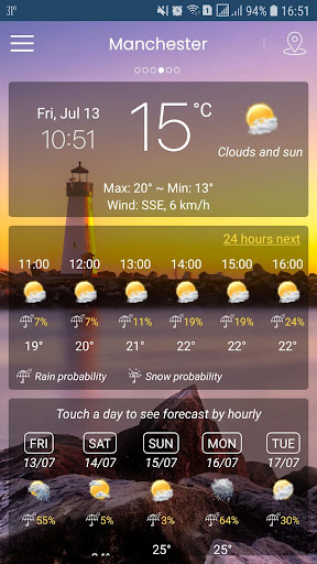 Weather App (APK) scaricare gratis per Android/PC/Windows screenshot