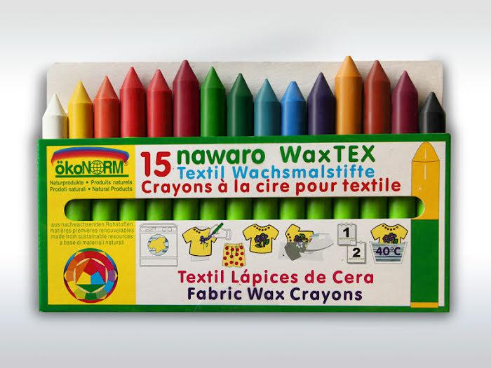 ökoNORM textilkritor 15-pack