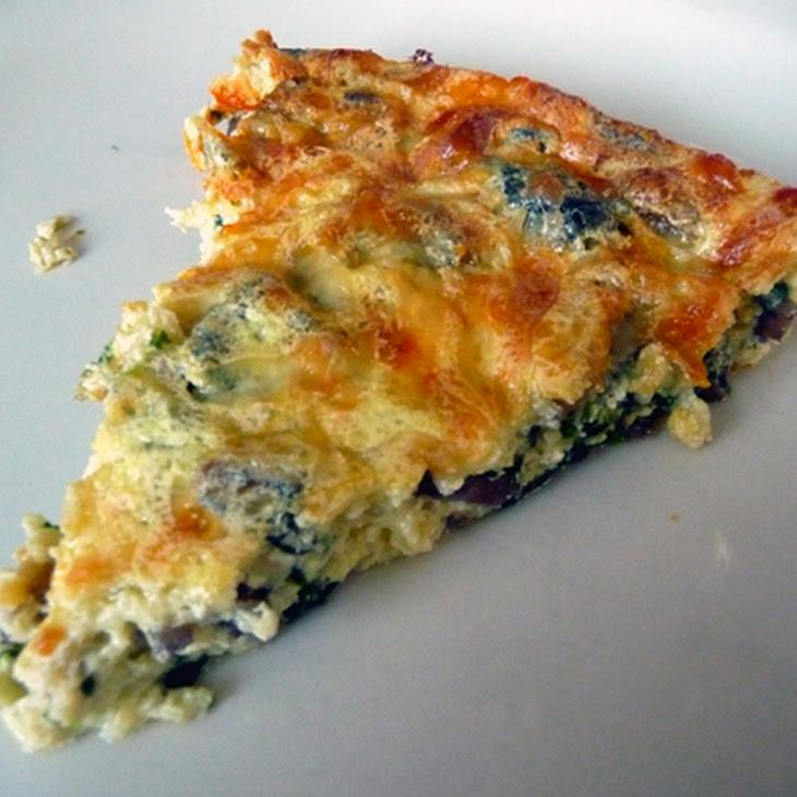 Mushroom Spinach & Gruyere Crustless Quiche Recipe
