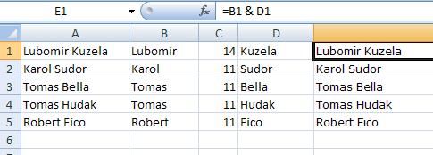 Excel: Práca s textovými reťazcami v bunkách 11