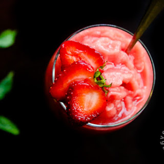Watermelon Strawberry Mint Freeze (vegan, gluten-free).