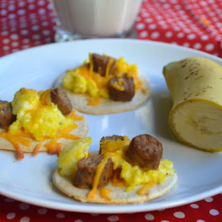 Mini Breakfast Pizzas- Yield's 15 mini pizzas
