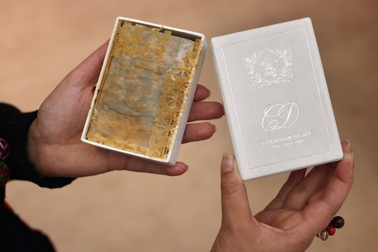 This piece of wedding cake from Prince Charles and Princess Diana's 1981 wedding was auctioned off in 2011. Another slice will be going up for sale in Las Vegas later this year.