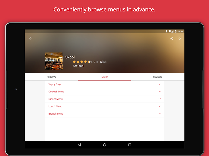Screenshot 10 for OpenTable's Android app'