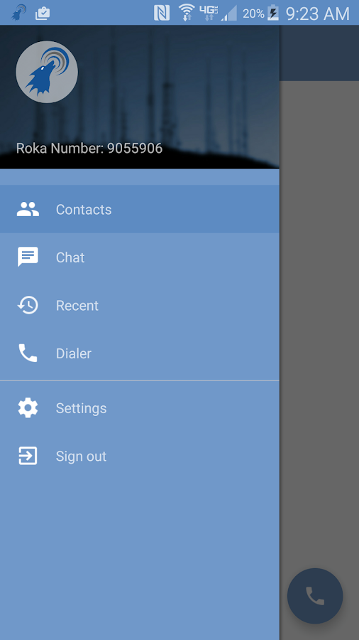 RokaCom: Secure Calls and Txt- screenshot