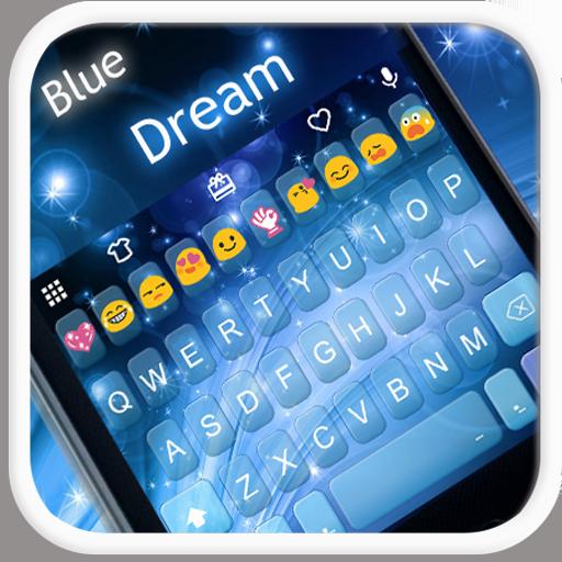 Blue Dream Emoji Keyboard Skin