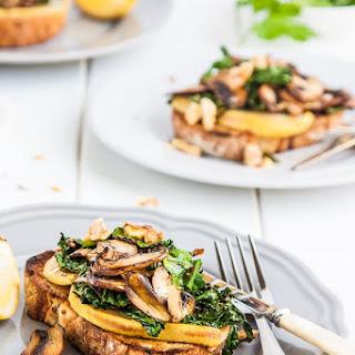 Mushroom, Pear & Cavolo Nero Toasts