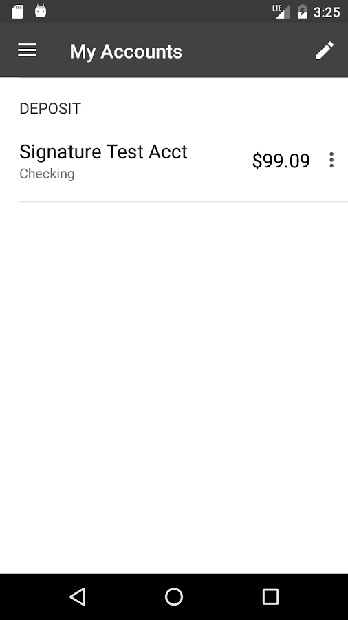 Signature Bank Mobile- screenshot