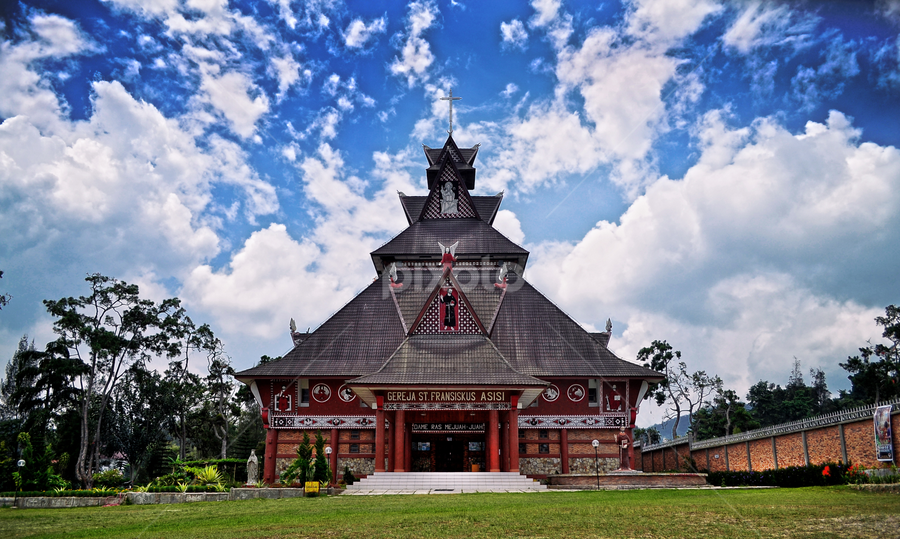Saint Francis of Assisi Church in Berastagi by Kriswanto Ginting's - Buildings & Architecture Places of Worship ( catholic, indonesia, karo, culture, berastagi,  )
