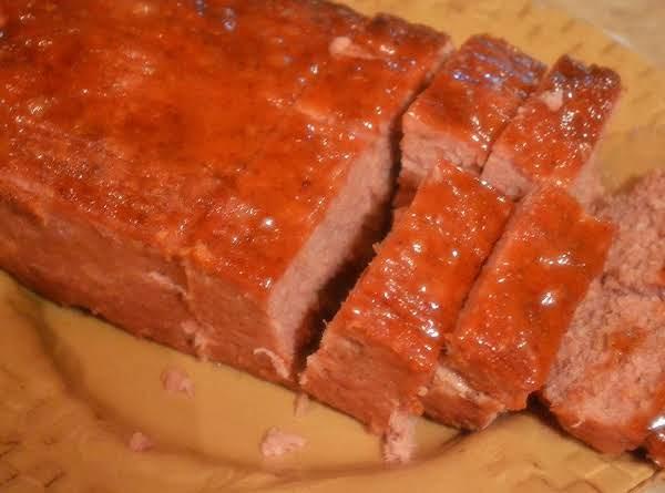 Baked Ham Loaf With Brown Sugar & Mustard Glaze