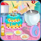 Horneando un pastel de festejo icon