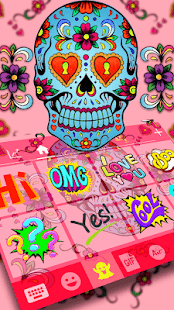 Sugar Skull Emoji Keyboard Theme - náhled