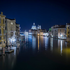 Grand Canal at night by Glenn Miller - Uncategorized All Uncategorized ( night photography, grand canal, venice, nightscape )
