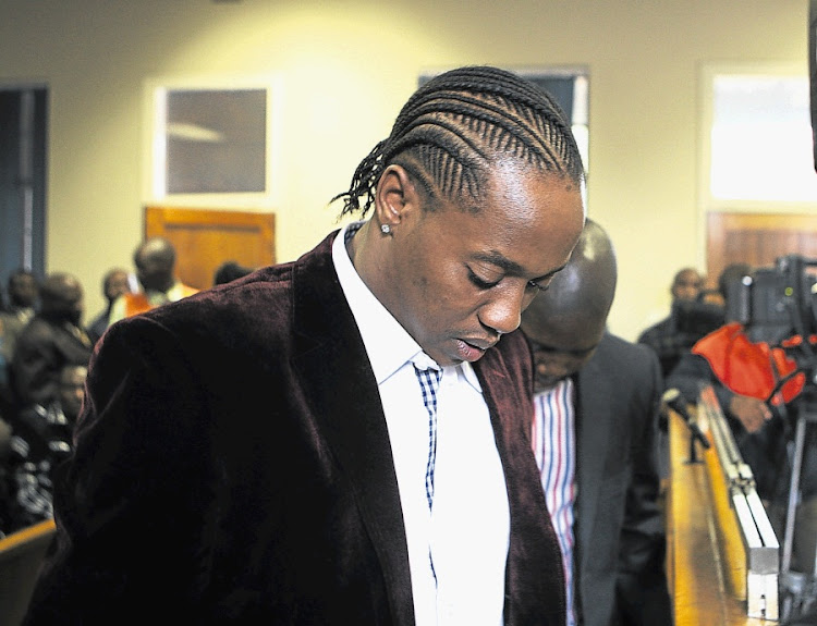 Molemo 'Jub  Jub' Maarohanye and Themba Tshabalala (partly obscured). Picture: SUNDAY TIMES
