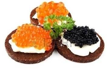 Russian Caviar Sandwiches