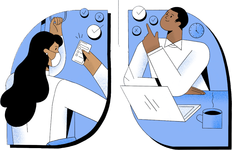 Man and woman participating in Health Study