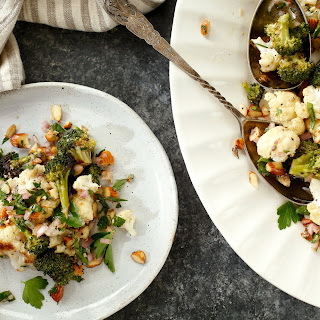 Roasted Cauliflower and Broccoli With Salsa Verde