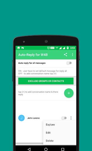 Auto-Reply for WhatsApp Business 1.3 screenshots 4