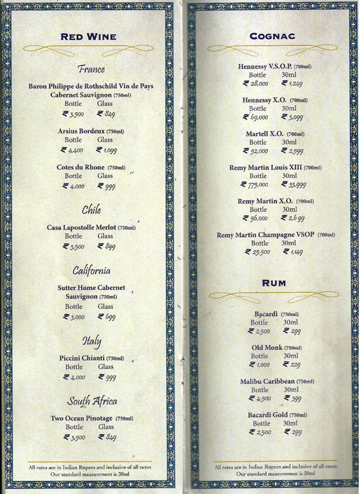 Shebestan - Sterlings MAC Hotel menu 5