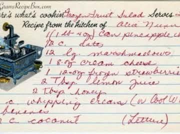 Frozen Fruit Salad Heirloom Recipe