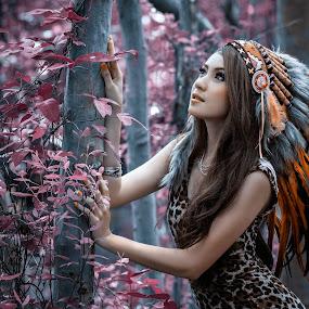 I want to fly high by Putu Anggara - People Portraits of Women ( pantai indah kapuk, winny valensia franoka, indian, mangrove, woods )