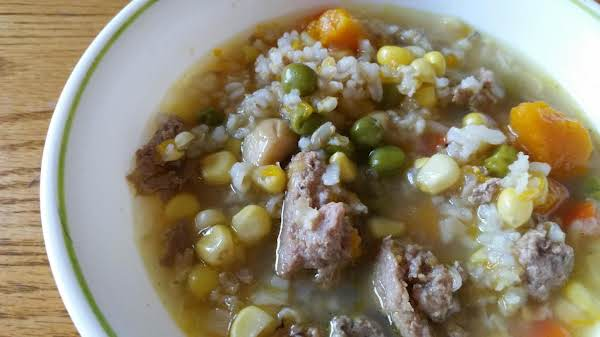 Turkey  Rice  Vegtable Soup