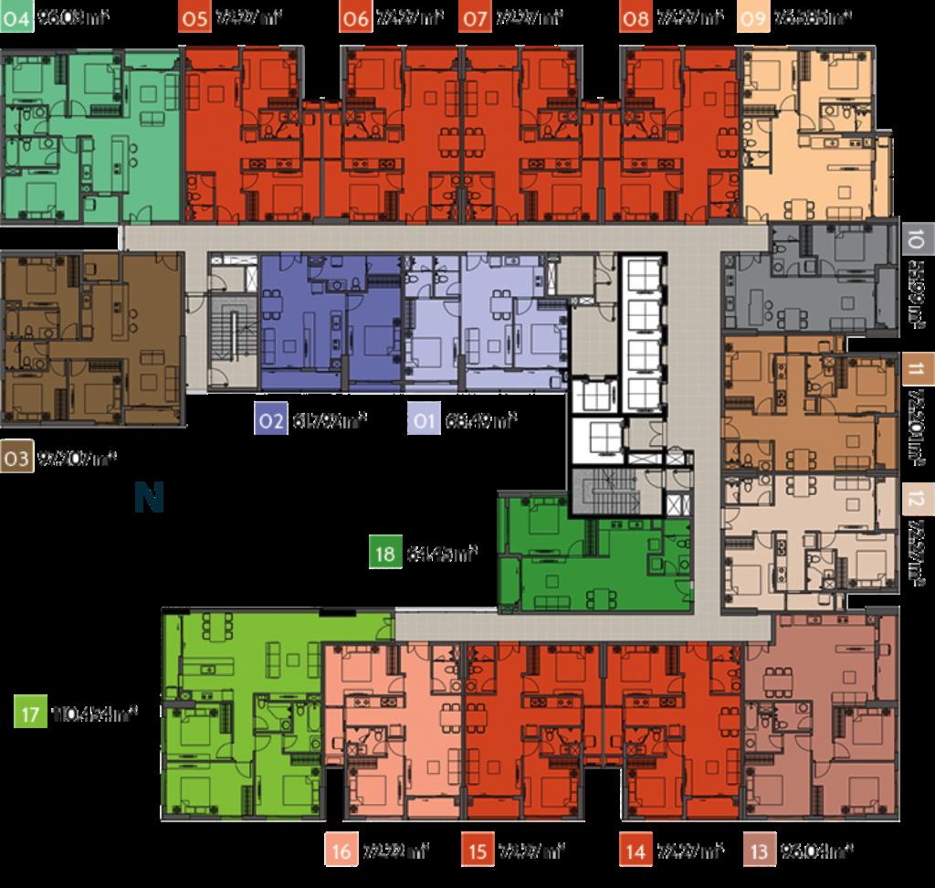 Mặt bằng điển hình Ascent Plaza