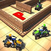 ATV Quad Parking in Labirinth 3D Maze