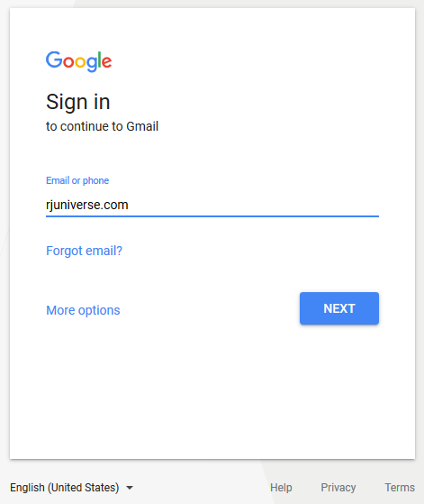 Sign In to Gmail - type your email address