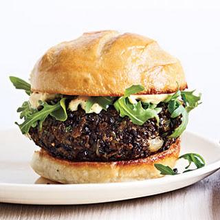 Mushroom Lentil Burgers.