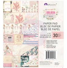 Prima Double-Sided Paper Pad 6X6 30/Pkg - Golden Coast UTGÅENDE