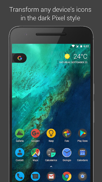 Pixel Dark Icon Pack – Apex/Nova/Go v5.0 [Paid]