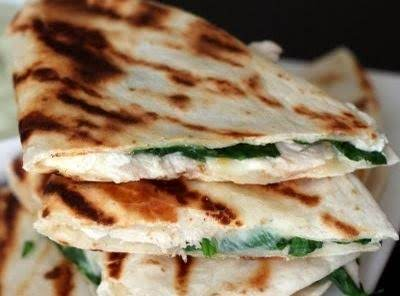 Chicken, Spinach And Goat Cheese Quesadillas