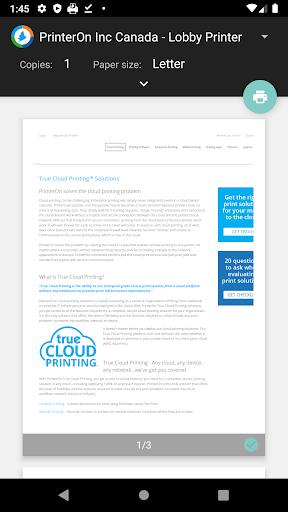 PrinterOn Print Service