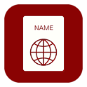 A list of names icon
