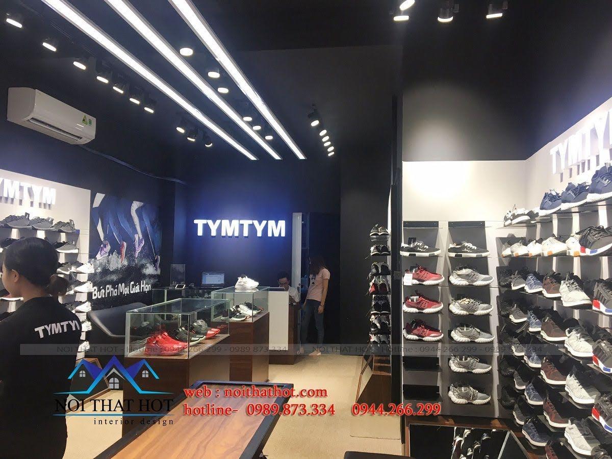 thi công shop giày nam 4