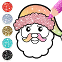 2021 Christmas Coloring Book Glitter icon