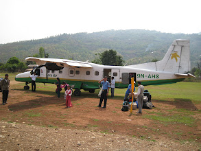 Photo: Our plane after landing at Tumlingtar