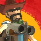 Polygon Wild West Cowboy Story - Revolver gunman icon