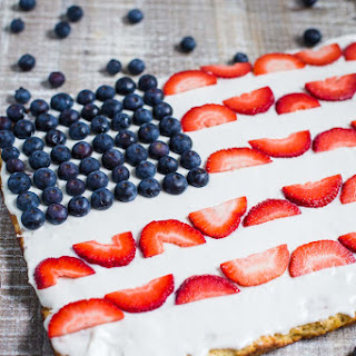 American Flag Dessert Pizza