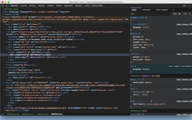 Chrome DevTools Dark Theme