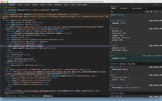 Chrome DevTools Dark Theme