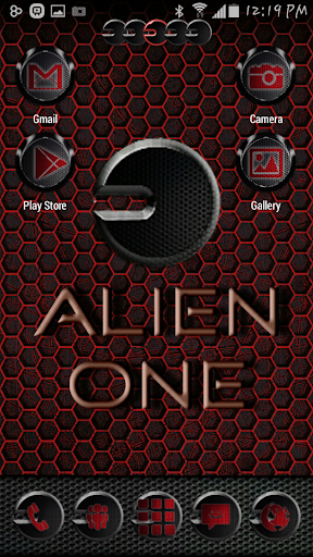 Alien One GoLauncher EX Theme
